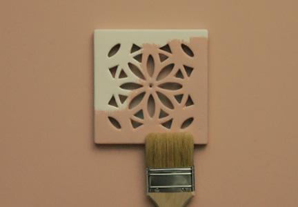 kratka ceramiczna wentylacyjna retro <br> 15 x 15 cm