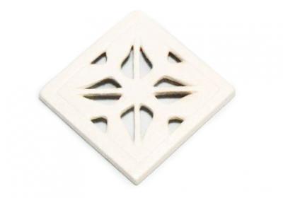 kratka wentylacyjna z ceramiki retro <br> 15 x 15 cm