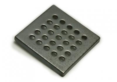 kratka ceramiczna wentylacyjna   antracyt 15 x 15 cm