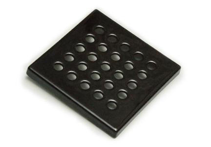 kratka ceramiczna wentylacyjna  <br> czarna 15 x 15 cm