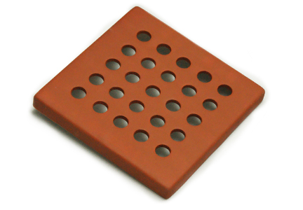 kratka wentylacyjna z ceramiki<br> tarakota matowa 15 x 15 cm