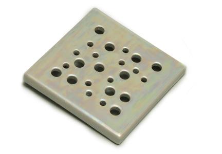 kratka wentylacyjna  z ceramiki  perłowa 15 x 15 cm